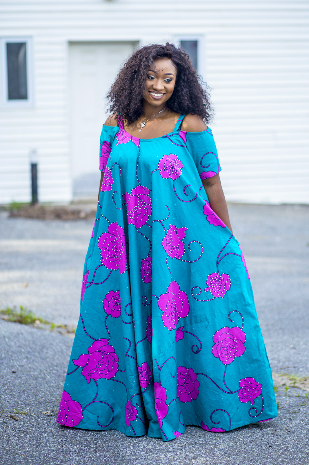Stylish African Print plus size dress